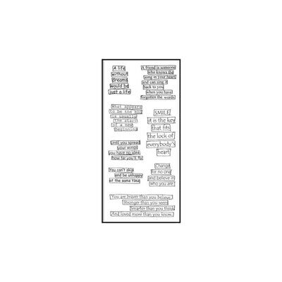 """Dyan Reaveley's Dylusions Clear Stamps 4""""X8"""" - Clearly The Right Words DYBS39587"""