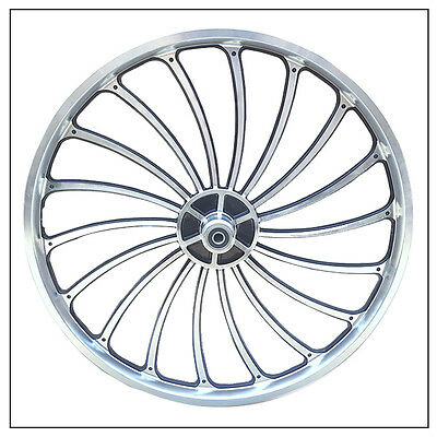 Bicycle Scooter eBike Chopper Front Wheel 24 X 1.75//1.95//2.125 One Side Thread