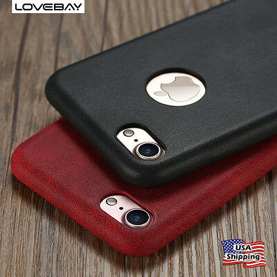 For Apple iPhone 7 Plus 6 6s Case Luxury Ultra Thin PU Leather Shockproof Cover