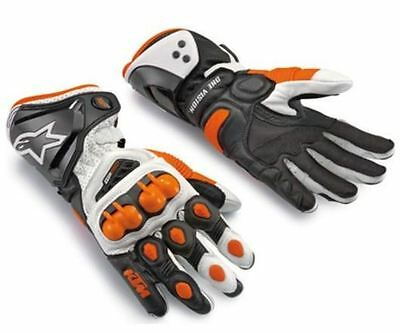 Motocross Off Road Armor Protective Motorcycle Bike Winter KTM Leather Gloves