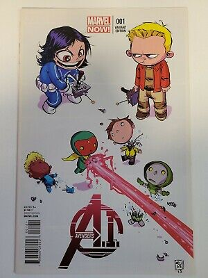 Avengers AI #1 Marvel Comics 2013 Series Skottie Young Variant 9.4 Near Mint
