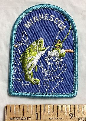 Minnesota Bass Fish Fishing Souvenir Embroidered Patch Badge