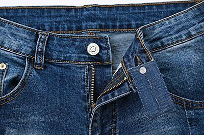 3 Pieces Denim Jean Waist Extender 3 Colors Mens Womens & Gold Star Metal Button
