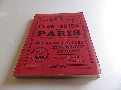 Guide Plan Taride Cartes  De 1949  Paris Metro Ref.  315