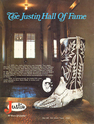1974 vintage shoe AD JUSTIN Brown and White PYTHON BOOTS  style 9038 051516