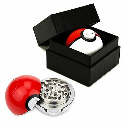 Pokemon Go Spice Grinder + Padded CASE Tobacco Herb Mill Poke-Ball Aluminum 3 Pc