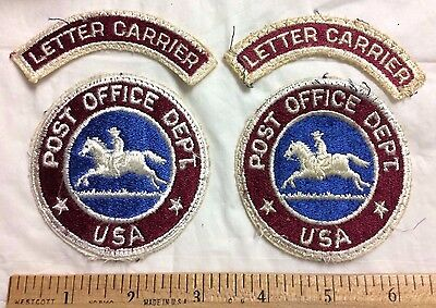 Lot of US Mail Letter Carrier USPS Post Office Pony Express Logo Postal Patches