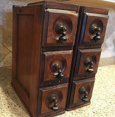 Lot of 6 Antique Treadle Sewing Machine DRAWERS in Framework