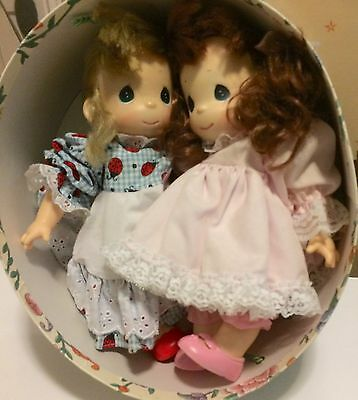 2 Precious Moments Dolls Blonde & Red Head 14""