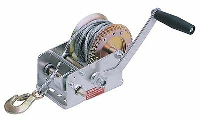 Hand Winch, 2500-Pound Capacity, 30-Foot Cable 0.22-inch x 30-foot Cable with 4: