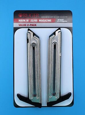 Ruger 22/45 Mark IV 4 Magazine 10-Round RD 22-LR Value 2-Pack 90646 OEM Clip NEW