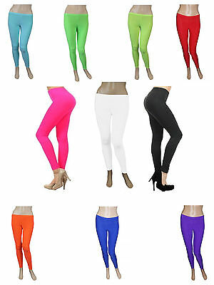 Girls Cotton Leggings Women Pant Slim  Stretchy Full Length All Colors and Sizes
