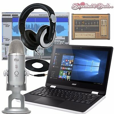 Portable Podcast Recording Bundle - Studio Package - Acer Notebook - Blue Yeti