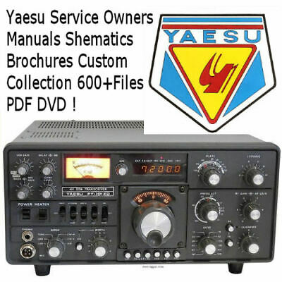 YAESU Service Owners Schematics Ham Radio Custom Collection of Manuals PDF DVD !