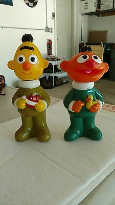 Vintage bert and ernie shampoo and conditioner bottles