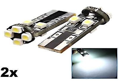 2x Canbus T10 W5W LED SMD Canbus Xenon Weiss Autobirne Lampe Glassockel #23