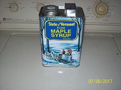 Vintage Antique All Metal Vt Maple Syrup Container,very Good Condition,orig.