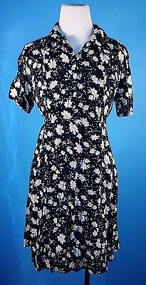 Colleen Conrad Nursing Dress Black Flower Print XS