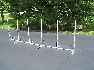 Agility Gear Fixed Weave Poles ( set of 6 ) - Dog Agility Equipment