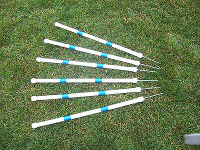 Agility Gear HD Stick-in-the-Ground Weave Poles ( 6 poles ) - Dog Agility Equip