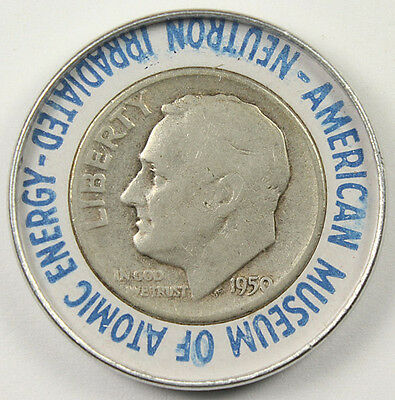 1950 Museum Of Atomic Energy Irradiated Roosevelt Dime