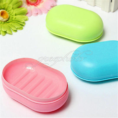 Soap Dish Box Case Holder Container Home Bathroom Shower Travel Camping