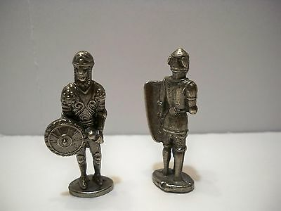 Metal Figurines Knights Silver Vintage Kinder Miniatures