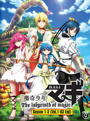 DVD Magi : The Labyrinth Of Magic Season 1-3 Vol.1-63 End