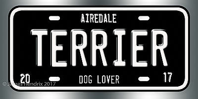 Airedale Terrier Dog Breed License Plate  Red Blue Green Yellow Black