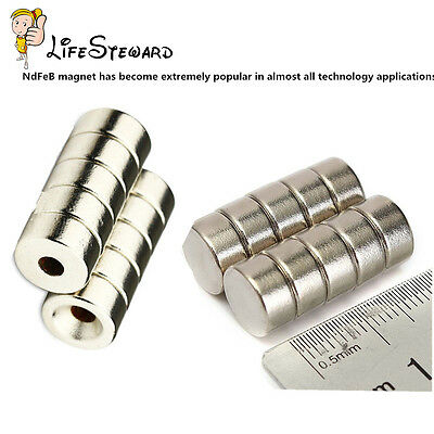 5PCS N50 Strong Disc Neodymium Magnets Hole 3mm Rare Earth Countersunk