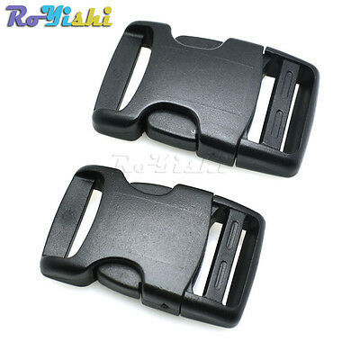 Plastic Arched Side Release Buckle For Backpack Straps Webbing 25mm 30mm