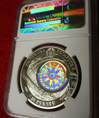 Belarus   2009 .925 silver coin Hologram The Sedov Famous Ships NGC PF69 pop 10