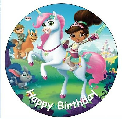 "NELLA THE PRINCESS KNIGHT  7.5"" ICING Cake Topper different sizes available"