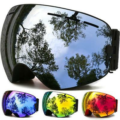 Goggles Snow Winter Ski Lens Anti Fog Uv Dual Protection Unisex Layers Foam Men