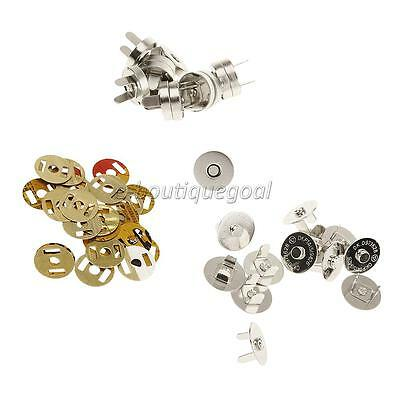 12 Sets Craft Sewing Button Snaps Fixations magnétiques Press Studs DIY