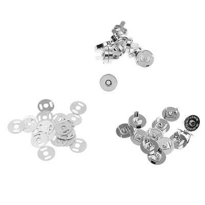 12 Set Craft Sewing Button Snaps Fixations magnétiques Press Studs DIY 14mm