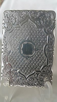 Stunning Antique Sterling Silver Cardcase/aide Memoire By Neil + Cook 1860