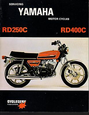 YAMAHA RD250C, RD400C 1977-78 Service Manual by Cycleserv