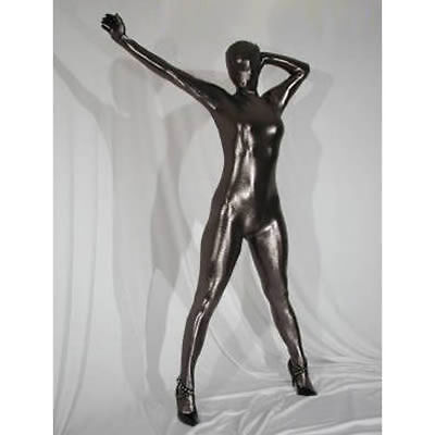 Super Springy Body latex Spandex Catsuit with MOUTH, full head