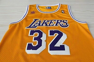 Magic Johnson NO.32 Los Angeles Lakers Yellow Throwback Classic Vintage  Jersey 03ec81ef3