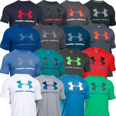 Under Armour UA NEW 2017 Mens Cotton Sportstyle Large Logo Gym T Shirt Top Tee