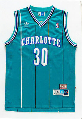 c038ba2053f ... sale new charlotte hornets no.30 dell curry green throwback swingman  sticthed jersey acb14 10813