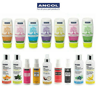 Ancol Luxury Dog Puppy Shampoo Conditioner Detangler 200ml 250ml 500ml