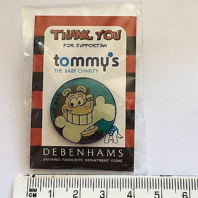Debenhams Tommy's Charity Pin Badge (see pics) Beano Character Gnasher SEALED