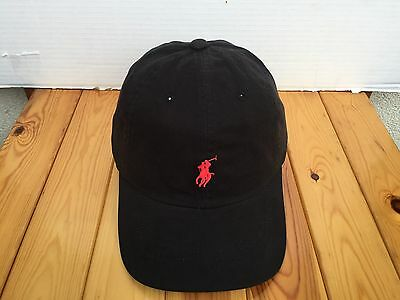 Polo ralph lauren cap new with tag but without price tag black with Red
