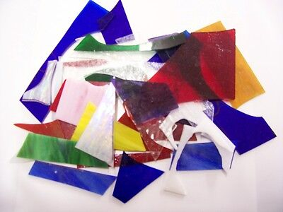 Stained Glass Scraps 2lbs. Great for mosaics or small suncatchers