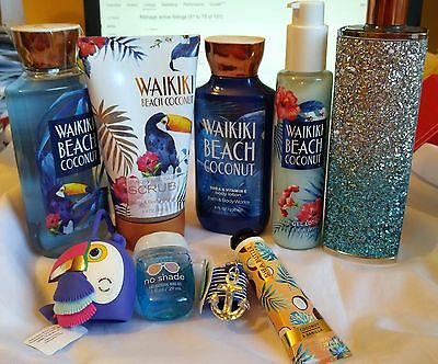New!  Bath & Body Works Waikiki Beach Coconut Ultimate Gift Set