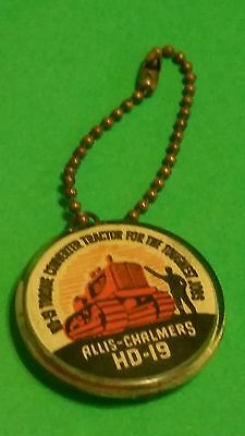 1947 Allis Chalmers Torque Converter Hd-19 Tractor-Enclosed Penny Keychain-Nice