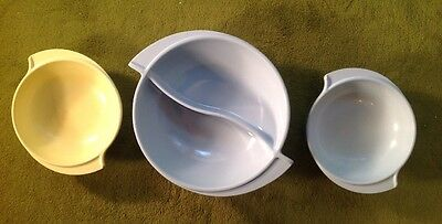 Vintage Boontonware Set of 3 Bowls, (1) #605-10 And (2) #307-10, Excellent!