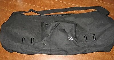 EUC YOGA ADDICT black canvas carry bag for exercise mat mesh pocket large 29 ""